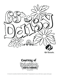 daisy girl scouts coloring pages coloring pages for girl scouts daisy girl scout coloring pages of