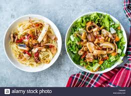 Mix of Seafood Salad with Pasta ...