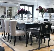 dining table black set and white room furniture chairs with arms