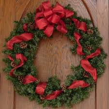 Red Bow Christmas Wreath by FantasyStock ...