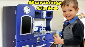 Retro Play Kitchen Set Cake Fire Play Kitchen Cooking Toys Kitchen Playset Childrens