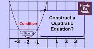 how to construct a quadratic equation