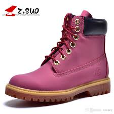 western women ankle casual pink leather waterproof tooling military boots motorcycle womens martin outdoor war snow shoes