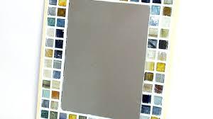 bathroom mirror frame tile. Wonderful Tile How To Make A Cute Mosaic Tile Mirror Frame DIY Home Tutorial Within Plans  10 And Bathroom