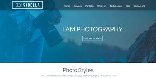 Photography Websites Templates Isabella HTML Photography Website Template HTML Website 8