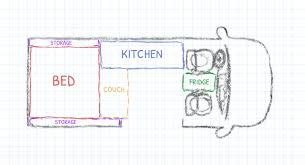 fixed rear bed platform layouts