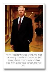 Champion of diversity and academic reform: NCAA President Myles Brand dies  at 67 | Hoopfeed.com