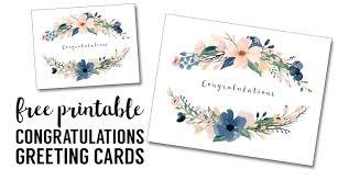Congratulations Card Printable Free Printable Greeting