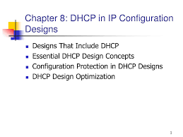 Dhcp Scope Design Ppt Chapter 8 Dhcp In Ip Configuration Designs Powerpoint