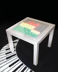 Interactive Coffee Table Transform An Ikea Side Table Into A Music Visualizer Make