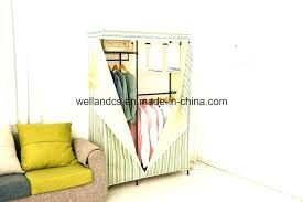 garment rack enclosed clothes canvas metal wardrobe for bedroom on wheels rolling g