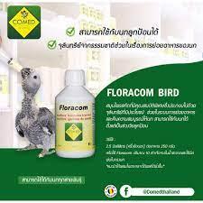 โคเมด COMED : อาหารเสริมนกช่วยในการย่อยอาหาร FLORACOM BIRD