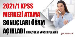 KPSS 2021 Kamu Personeli Alımı Yerleştirme Sonuçları Açıklandı