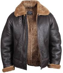 leather jackets and sheepskin coats for men and women in uk men s aviator ginger brown real shearling sheepskin leather er flying jacket moscow