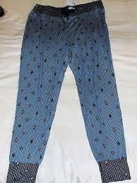 Blue Pin Stripe Pajama Pants For Men 100 Cotton Button Fly