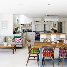 couches in kitchens. Fine Couches Kitchen Diner With White Walls Grey Sofa Wooden Table And Colourful Chair  Cushions For Couches In Kitchens T