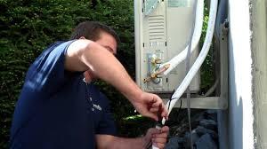 How To Install A Heat Pump Installing Fujitsu 12rls2 Mini Split Heat Pump Youtube