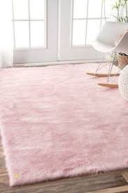 pink plush rug inspirational faux sheepskin cloud solid soft and plush pink area