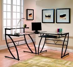 z line designs belaire glass l shaped desk