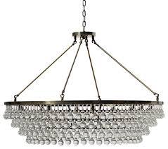celeste xl glass drop crystal chandelier antique brass