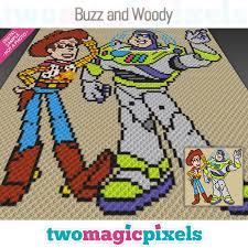 Buzz And Woody Crochet Graph C2c Mini C2c Sc Hdc Dc Tss Cross Stitch Pdf Download No Counts Instructions