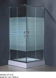 6m door thickness corner shower enclosures square shower stall stripe glass