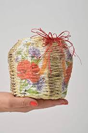 News Paper Flower Vase Unusual Handmade Woven Vase Decorative Newspaper Vase Flower