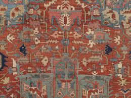 hand knotted antique persian heriz carpet handmade wool oriental rug rust navy
