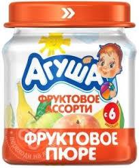 Купить <b>Пюре Агуша Фруктовое</b> ассорти 115г с доставкой на дом ...