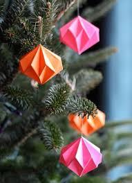 Weihnachtsbaumschmuck Basteln Farbige Origami