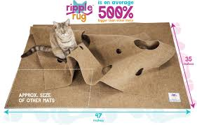 com the ripple rug made in usa cat activity play mat