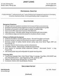 Free Resume Examples Gorgeous Professional Objective Qualifications Management Experience Software