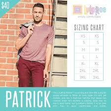 Lularoe Patrick T Size Chart Lularoe Patrick Short Sleeved Tee Lularoepatrick Lularoe