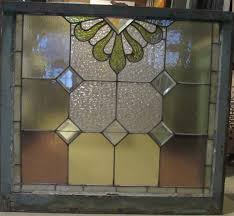 4463 antique leaded beveled glass window