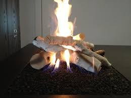 black stone birch logs for gas fireplace