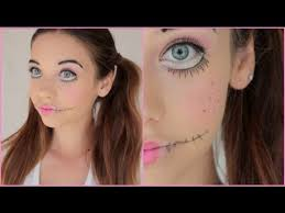 creepy doll makeup tutorial