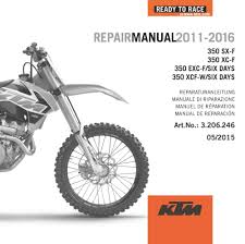 repair manuals aomc mx ktm dvd repair manual 350 11 16
