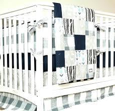 navy blue baby bedding woodland nursery set deer crib gray arrow plaid and grey chevron navy blue baby bedding crib canada