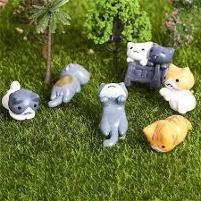1set 6pcs cartoon cat micro landscape