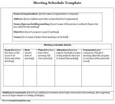 sample meeting schedule sample meeting schedule templates franklinfire co