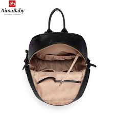 hot deal us 53 99 for aimababy pu leather baby organizer tote diaper bag mom backpack mother bags changing pad wet bag