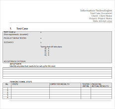 Free Case Template Test Case Template 9 Download Free Documents In Pdf Word Excel