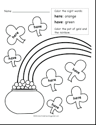Sight Word Coloring Page Color By Sight Word And Read The Sight ...