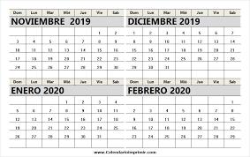 Calendario Noviembre 2020 Para Imprimir Calendario Mensual Noviembre 2019 Para Imprimir