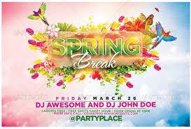 10 Best Spring Break Flyer Templates Premiumcoding