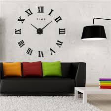modern 3d frameless wall clock style watches hours diy room home decorations model 3m011