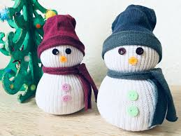 Sockenschneemann Mit Kindern Basteln Weihnachtsdeko Selber