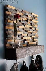 Reclaimed Wood Coat Rack Shelf Wood Tile Coat Rack With Floating Shelf by Shop Makarios Coat Rack 52
