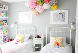... Fancy Girl Bedroom Decoration Design Ideas Using Various Girl Bed Frame  : Astonishing Image Of Shared ...