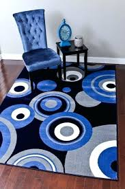 blue abstract contemporary area rugs large and grey